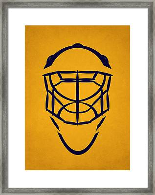 Nashville Predators Goalie Mask Framed Print by Joe Hamilton