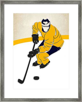Nashville Predators Rink Framed Print by Joe Hamilton