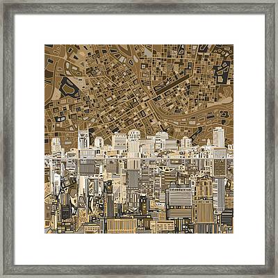 Nashville Skyline Abstract 2 Framed Print