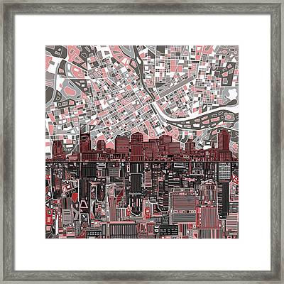 Nashville Skyline Abstract 3 Framed Print