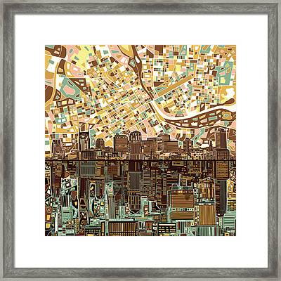 Nashville Skyline Abstract 4 Framed Print