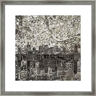 Nashville Skyline Abstract 5 Framed Print