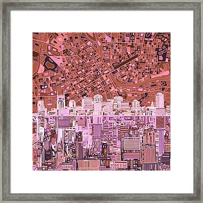 Nashville Skyline Abstract 7 Framed Print