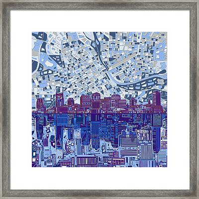 Nashville Skyline Abstract 8 Framed Print