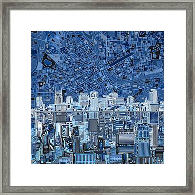 Nashville Skyline Abstract Framed Print