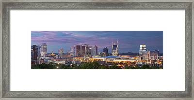 Nashville Skyline Framed Print by Brian Jannsen