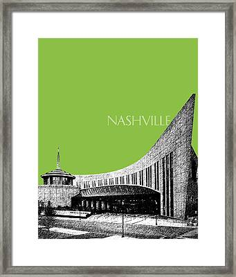 Nashville Skyline Country Music Hall Of Fame - Olive Framed Print by DB Artist