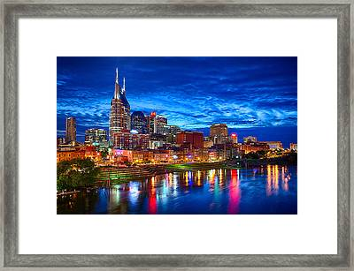 Nashville Skyline Framed Print by Dan Holland