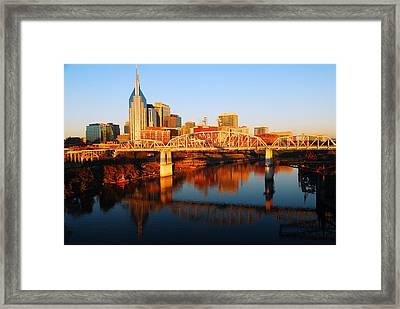 Nashville Skyline Framed Print by James Kirkikis