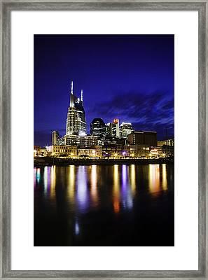 Nashville Skyline Framed Print by Lucas Foley