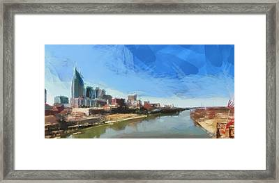 Nashville Skyline Panorama Framed Print