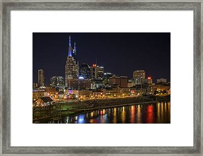 Nashville Skyline Framed Print by Rick Berk