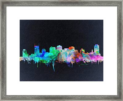 Nashville Skyline Watercolor 10 Framed Print