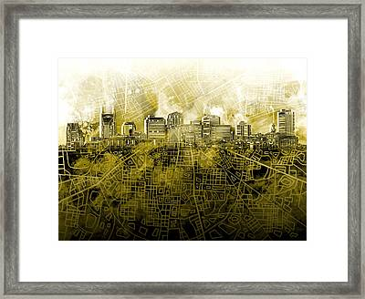Nashville Skyline Watercolor 4 Framed Print