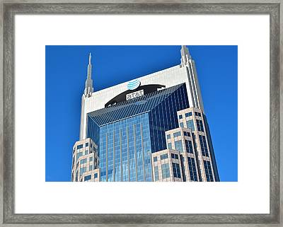 Nashville Skyscraper Close Up Framed Print by Frozen in Time Fine Art Photography