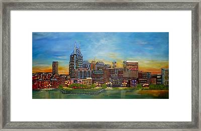 Nashville Tennessee Framed Print by Annamarie Sidella-Felts