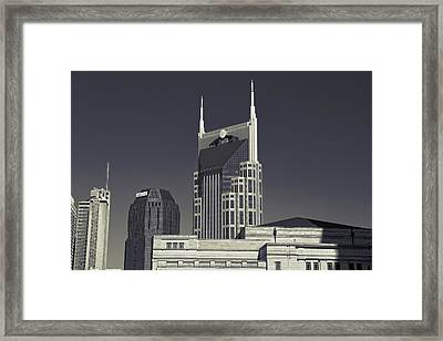 Nashville Tennessee Batman Building Framed Print