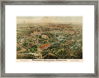 Nashville Tennessee Centennial Exposition Map 1897 Framed Print by Mountain Dreams
