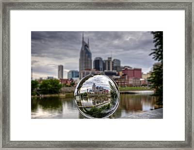 Nashville Through The Crystal Ball Framed Print by Brett Engle