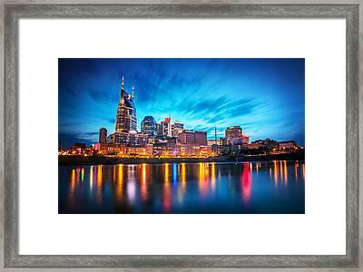 Nashville Twilight Framed Print by Lucas Foley