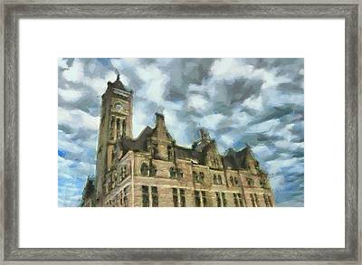 Nashville's Union Station Painted Framed Print by Dan Sproul