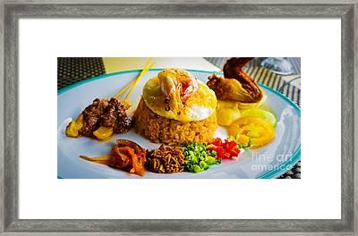 Nasi Goreng Framed Print by Receb Parsel