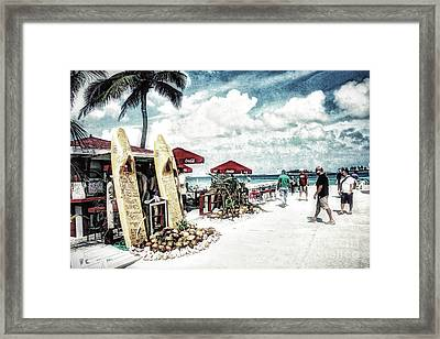 Framed Print featuring the photograph Nassau Beach by Gina Cormier