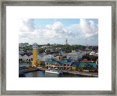 Framed Print featuring the photograph Nassau In The Bahamas by Teresa Schomig