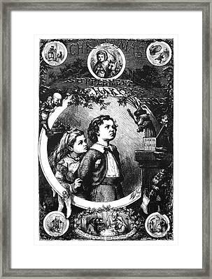 Nast Christmas, 1870 Framed Print by Granger