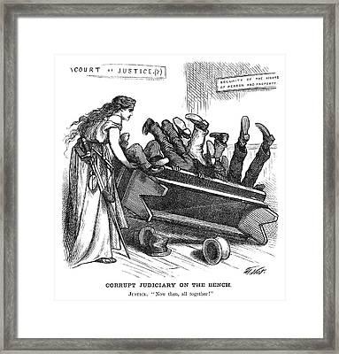 Nast Corruption, 1872 Framed Print by Granger