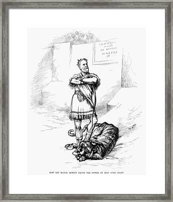 Nast Hewitt Cartoon, 1886 Framed Print by Granger