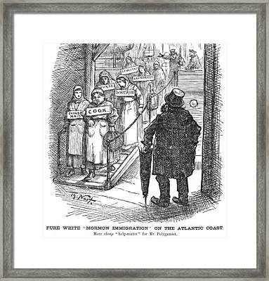 Nast Mormon Cartoon, 1882 Framed Print