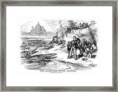 Nast State Aid Cartoon Framed Print by Granger
