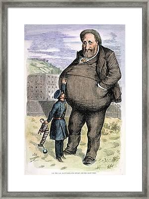 Nast Tweed's Corruption Framed Print by Granger