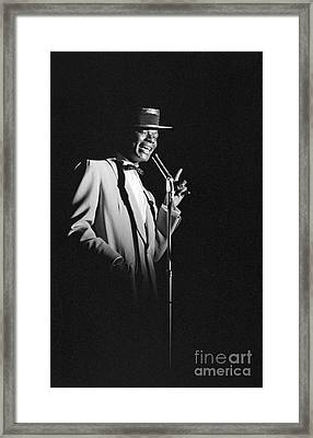 Nat King Cole Performing In 1954 Framed Print by The Harrington Collection