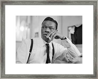 Nat King Cole Smoking 1954 Framed Print by The Harrington Collection
