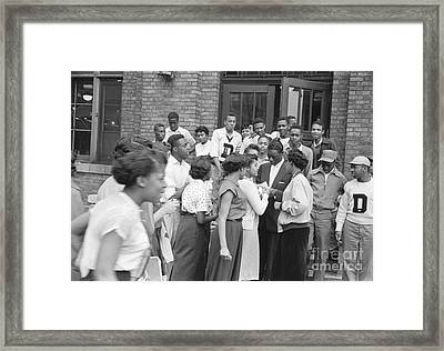 Nat King Cole With Fans 1954 Framed Print by The Harrington Collection