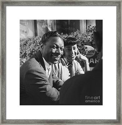 Nat King Cole With His Wife Maria 1954 Framed Print by The Harrington Collection