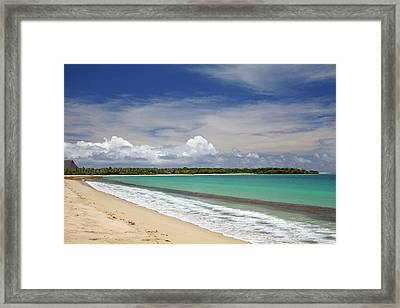 Natadola Beach, Coral Coast, Viti Levu Framed Print