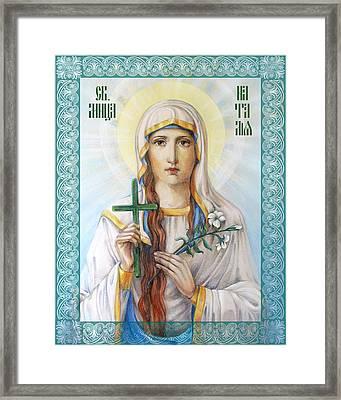 Natalia The Martyr Framed Print by Natalia Lvova