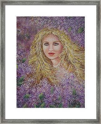 Natalie In Lilacs Framed Print