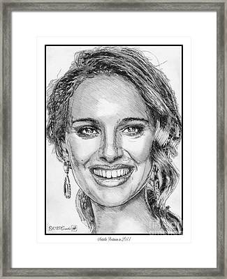 Natalie Portman In 2011 Framed Print by J McCombie