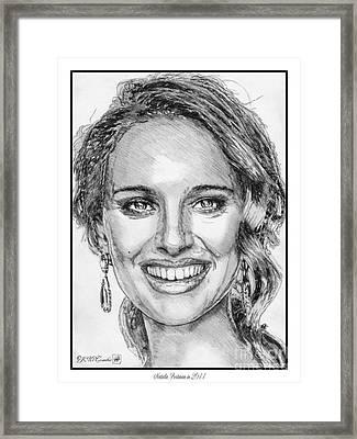 Natalie Portman In 2011 Framed Print by J McCombie