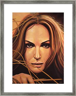 Natalie Portman Framed Print by Paul Meijering