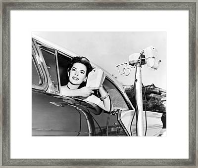 Natalie Wood At A Drive-in Framed Print