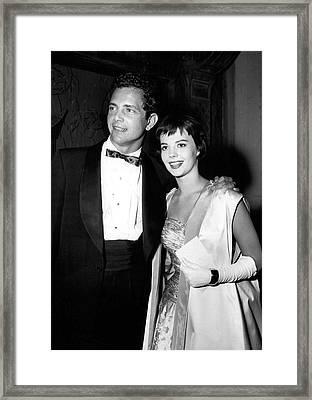 Natalie Wood In Formal Wear Framed Print