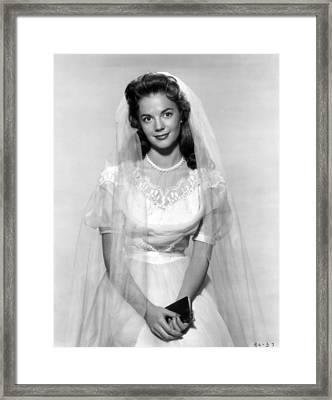 Natalie Wood In Wedding Dress Framed Print