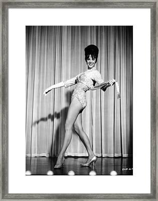 Natalie Wood On Stage Framed Print