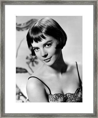 Natalie Wood With Short Hair Framed Print