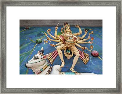 Nataraj Dancing Shiva Statue Framed Print by JPLDesigns